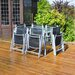 Kingfisher 6 Seater Dining Set with Parasol