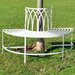 Kingfisher Vintage Semi Circle Steel Tree Bench