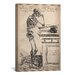 iCanvas Cartography 'De Humani Corporis Fabrica Skeleton Standing' by Vesalius Graphic Art on Canvas
