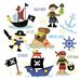 "iCanvas ""Pirates and Ships"" by Erin Clark Graphic Art on Canvas"