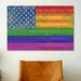 iCanvas American Rainbow Flag, Gay Lesbian Rights Graphic Art on Canvas