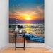 The Binary Box Sunset Over the Sea Self Adhesive Wallpaper