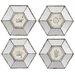 Derry's Hexa Mirrored 4 Piece Framed Graphic Art Set
