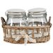 Derry's Giftware 3 Piece Jar with Basket Set