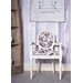 Derry's Louis Round Back Floral Carver Arm Chair