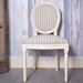Derry's Louis Round Back Chequered Dining Chair