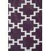 Green Decore Solitude Geometric Purple/White Indoor/Outdoor Area Rug
