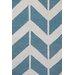 Green Decore Arrow Light Hand-Woven Blue Area Rug
