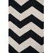 Green Decore Wave Hand-Woven Black/White Area Rug