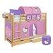 Lilokids Etagenbett Jelle Hello Kitty mit Vorhang und 2 Lattenrosten, 90 x 200 cm