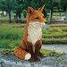 Design Toscano Garden Division Simon the Fox Statue