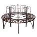 Design Toscano Garden Division Steel Circular Tree Seat