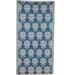 Ian Snow Decorative Blue Area Rug