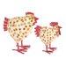 Ian Snow 2 Piece Dotty Chicken Figurine Set