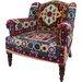 Ian Snow Crewel Embroidered Maharaja Armchair