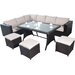 Port Royal Luxe 6 Seater Sectional Sofa Set with Cushions