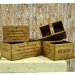 Geko Products 4 Piece Waxed Antique Style Box Set
