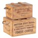 Besp-Oak Furniture 2 Piece Rustic Vintage Wooden Lidded Chest Box Set