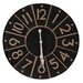 Besp-Oak Furniture 92cm Iron Segment Clock