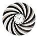 All Home Oversized 60cm Mirrored Swirl Wall Clock
