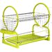 All Home 56 cm 2 Tier Dish Drainer with Plastic Tray