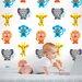 Wallies Murals & Cutouts French Bull Jungle Wall Stickers