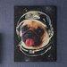 Arthouse Imagine Fun Space Pug Printed Canvas Art