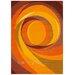 Arte Espina Modern Line Spirit Orange Rug