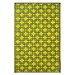 Fab Habitat World Sunny Lime/Charcoal Grey Indoor/Outdoor Area Rug