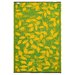 Fab Habitat World Lemon Yellow/Moss Green Indoor/Outdoor Area Rug