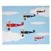 Illuminated Canvas Bi-Planes Graphic Art on Canvas