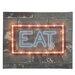 Illuminated Canvas Neon Eat Typography on Canvas
