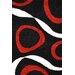 Urban Designs Classic Black/Red Area Rug