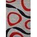 Urban Designs Classic Grey/Red Area Rug