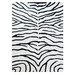 Bakero Zebra Hand-Knotted Black Area Rug