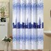 Beytug Textile Skyline Shower Curtain