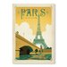 Americanflat Paris, France by Anderson Vintage Advertisement Wrapped on Canvas