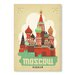 Americanflat Moscow by Anderson Vintage Advertisement Wrapped on Canvas
