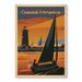 Americanflat Explore Coastal America Vintage Advertisement Wrapped on Canvas