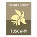 Americanflat Flower Show, Tuscany by Alan Walsh Vintage Advertisement in Green