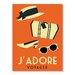 Americanflat J'Adore Voyage by Alan Walsh Vintage Advertisement