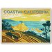 Americanflat Coastal California by Anderson Design Group Vintage Advertisement Wrapped on Canvas