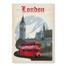 Americanflat London Vintage Advertisement Wrapped on Canvas
