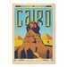 Americanflat Cairo by Anderson Vintage Advertisement Wrapped on Canvas