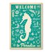 Americanflat Welcome to Paradise Graphic Art Wrapped on Canvas