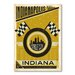 Americanflat Indiana by Anderson Design Group Vintage Advertisement Wrapped on Canvas