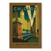 Americanflat Chicago Magnificent Mile by Anderson Design Group Vintage Advertisement Wrapped on Canvas
