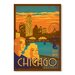 Americanflat Chicago Navy Pier by Anderson Vintage Advertisement Wrapped on Canvas