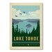 Americanflat National Park Lake Tahoe by Anderson Design Group Vintage Advertisement Wrapped on Canvas