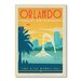 Americanflat Orlando by Anderson Design Group Vintage Advertisement Wrapped on Canvas